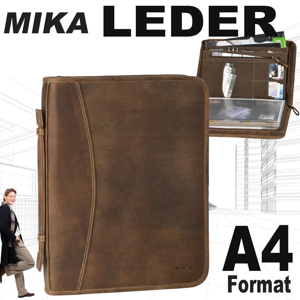 Mika Leder Konferenzmappe in braun