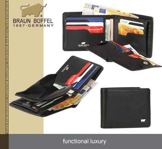 Braun Büffel Geldbörse in Leder aus der Golf Serie