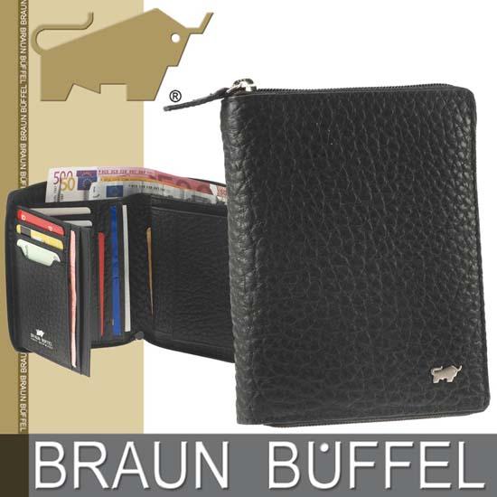 Braun Büffel Leder Herrenbörse TOUGH Serie mit Grobnarbung